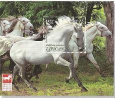 HR 2018-1345 HORSES LIPICANER, CROATIA HRVATSKA, S/S , MNH - Croatie