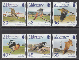 2004 Alderney Birds Oiseaux Hoopoe  Complete Set Of  6 MNH At BELOW Face Valur - Oiseaux