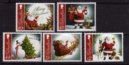 GIBRALTAR GIBILTERRA 2012 CHRISTMAS SANTA CLAUS NATALE BABBO NATALE PAPA NOEL SERIE COMPLETA COMPLETE SET MNH - Gibilterra