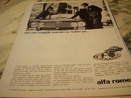 ANCIENNE PUBLICITE VOITURE   ALFA ROMEO SUPER BERLINE 1966 - Voitures