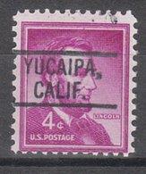 USA Precancel Vorausentwertung Preo, Locals California, Yucaipa 802 - Vereinigte Staaten