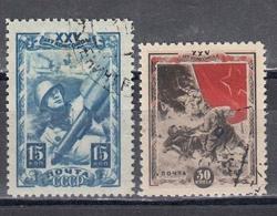 USSR 1943/44 - 25 Jahre Komsomol, Mi-Ntr. 885, 887, Used - 1923-1991 URSS