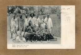 CPA - GUINE-BISSAU-PORTUGUEZA - GEBA - Regulo Fula - Le Roi Fulah Et De Sa Suite En 1907 - Guinea-Bissau