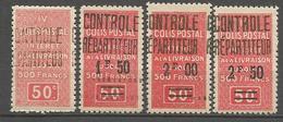 ALGERIE COLIS POSTAUX N° 23 à 26 NEUF** SANS CHARNIERE  / MNH - Algérie (1924-1962)