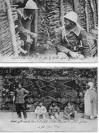 GUERRE 14 -18 2 Cartes CENTRE D'INSTRUCTEURS De SENEGALAIS Dans Les TRANCHEES HOPITAL DU JARDIN COLONIALTapis De Moquée - Guerre 1914-18