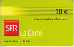 MAYOTTE - TÉLÉCARTE - GSM DU MONDE *** RECHARGE GSM - SFR10 - 07/06 *** - TAAF - Franse Zuidpoolgewesten