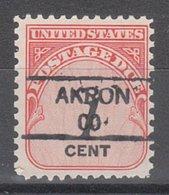 USA Precancel Vorausentwertung Preo, Locals Colorado, Akron 835,5 - Vereinigte Staaten