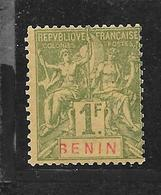 BENIN TYPE GROUPE N° 45 NEUF * - COTE = 7.50 € - Benin (1892-1894)
