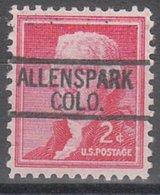 USA Precancel Vorausentwertung Preo, Locals Colorado, Allenspark 812 - Vereinigte Staaten