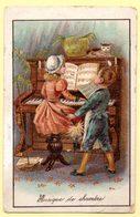 Chromo La Samaritaine à Marseille. Enfants Au Piano, Musique De Chambre. - Other