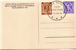 Germany 7 Allied Occupation Covers And Cards With Dachau Eliberation Cancel: Tag Der Befreiung I.I.O. Dachau 1946 - American,British And Russian Zone