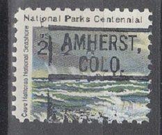 USA Precancel Vorausentwertung Preo, Locals Colorado, Amherst 802 - Vereinigte Staaten