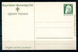 """4412 - BAYERN - Privatpostkarte """"Bayerischer Blumentag 1913"""" - Bayern"""