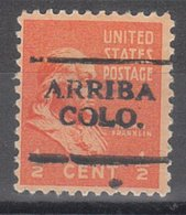 USA Precancel Vorausentwertung Preo, Locals Colorado, Arriba 701 - Vereinigte Staaten