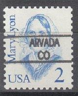 USA Precancel Vorausentwertung Preo, Locals Colorado, Arvada L-1 HS - Vereinigte Staaten