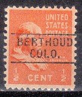 USA Precancel Vorausentwertung Preo, Locals Colorado, Berthoud 745 - Vereinigte Staaten