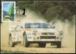1984 POSTCARD LANCIA 037 RALLY ILHA DA MADEIRA PORTUGAL CARTE POSTALE VOITURE RALLYE CAR STAMPED TIMBRE - Motorsport