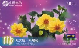 TARJETA TELEFONICA DE CHINA USADA. Zodiac, Flower. TZ-9(12-8). (222) - Zodiaco