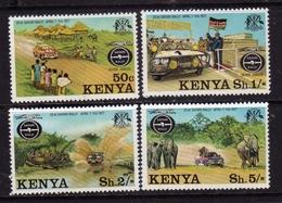 KENYA KENIA 1977 SAFARI RALLY COMPLETE SET SERIE COMPLETA MNH - Kenia (1963-...)