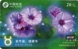 TARJETA TELEFONICA DE CHINA USADA. Zodiac, Flower. TZ-9(12-4). (223) - Zodiaco