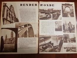 Dendermonde :2 Blz Uit Oud Tijdschrift: Ons Land 1935 - Dendermonde