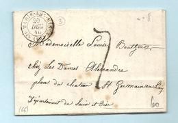 Haut Rhin - St Marie Aux Mines Pour St Germain En Laye. LAC De 1840 - Marcophilie (Lettres)