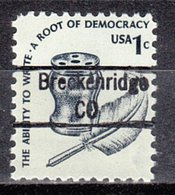 USA Precancel Vorausentwertung Preo, Locals Colorado, Breckenridge 843 - Vereinigte Staaten