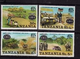 TANZANIA 1977 SAFARI RALLY COMPLETE SET SERIE COMPLETA MNH - Tanzania (1964-...)