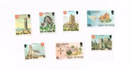 Série Courante + Europa MNH,Neuf Sans Charnière,Falzlos. Yvert 98/9,103/5,182/3 - Isle Of Man