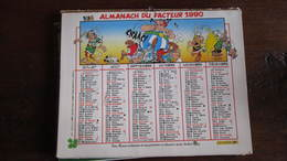 ASTERIX CALENDRIER LA POSTE 1990  UDERZO - Astérix