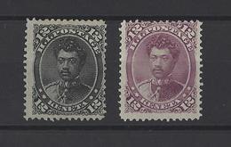 HAWAII .  YT    N° 28-37  Neuf * Sans Gomme  1875-83 - Hawaï
