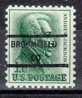 USA Precancel Vorausentwertung Preo, Locals Colorado, Broomfield 846 - Vereinigte Staaten