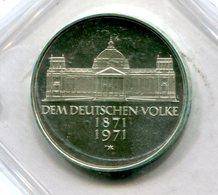 """4422 - BUND - 5 DM Silbermünze 1971 PP In OVP """"Dem Deutschen Volke"""" - Nur Links 2 Sichtbare Fenster - [ 7] 1949-…: BRD"""