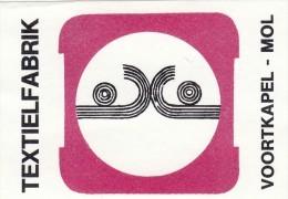 Textielfabrik Voortkapel Mol - Boites D'allumettes - Etiquettes
