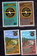 KENYA TANZANIA UGANDA 1965 EAST AFRICAN SAFARI RALLY EST AFRICA COMPLETE SET SERIE COMPLETA MNH - Kenia (1963-...)