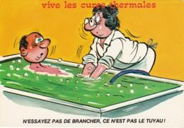 """HUMOUR VIVE LES CURES THERMALES """" N ESSAYEZ PAS DE LE BRANCHER CE N EST PAS LE TUYAU"""" (lot Pat 50) - Humour"""