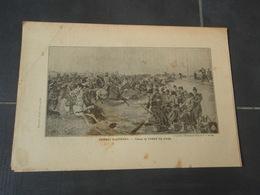 Combat D'ARTENAY La Barricade Tournée Extrait De L'Histoire Populaire De La Guerre 1870/71 Tableau De FABER DU FAUR - Militaria
