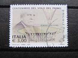 *ITALIA* USATI 2005 - CENT VOLO PRIMO DIRIGIBILE ITALIANO - SASSONE 2830 - LUSSO/FIOR DI STAMPA - 6. 1946-.. Repubblica