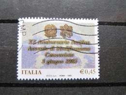 *ITALIA* USATI 2005 - 20° MODIFICAZIONE CONCORDATO - SASSONE 2828 - LUSSO/FIOR DI STAMPA - 6. 1946-.. Repubblica