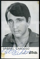 MUSICA ARTISTA SIGNED AUTOGRAFADO CANTOR GABRIEL CARDOSO PORTUGAL - Cantanti E Musicisti