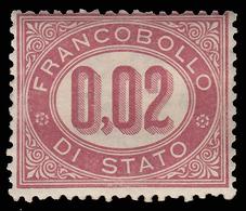 Italia Regno - Francobollo Di Servizio: 0,02 C. Lacca - 1875 - Servizi