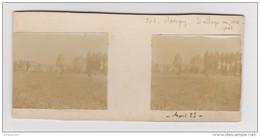 PHOTO STÉRÉOSCOPIQUE AMATEUR SAVIGNY SUR CLAIRIS LE VILLAGE VU DES PRÉS AOÛT 1923 - Photos Stéréoscopiques