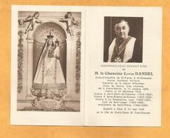 IMAGE GENEALOGIE FAIRE PART DECES CHANOINE LOUIS DANDEL PIERRE BENITE OCTOBRE 1889 SAINT LAGER  CHAMOND 1948 - Décès