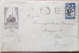 Ceylon Denmark British India Line - Ceylan (...-1947)
