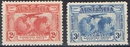 DO 6636  AUSTRALIË  ZONDER GOM  YVERT NRS 75/76  ZIE SCAN - Poste Aérienne