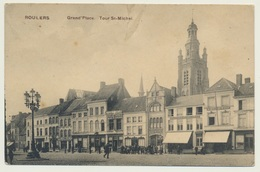 AK  Roulers Grand Place Roeselare Lazarett 1915 Bahnpost - Roeselare