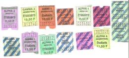 Tickets D'entrée Cinéma Argenteuil Alpha Gamma Lot De 14 Billets - Tickets - Vouchers
