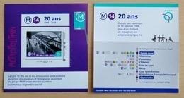 "FRANCE 2018 COLLECTOR "" RATP - 20 ANS - METRO LIGNE 14 "" - Frankreich"