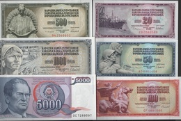 B 142 - YOUGOSLAVIE Lot De 6 Billets  état Neuf 1er Choix - Yugoslavia