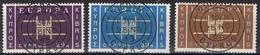 DO 6640  CYPRUS  GESTEMPELD  YVERT NRS 217/219  ZIE SCAN - Chypre (République)